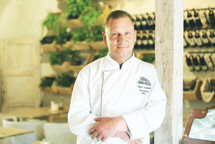 Szef kuchni restauracji Grono di Rucola