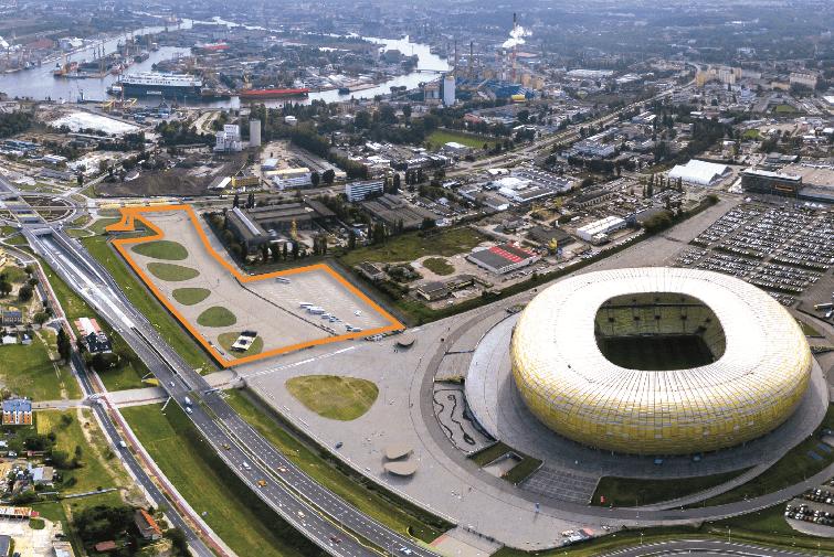 Teren do zagospodarowani przy Stadionie Arena Gdańsk