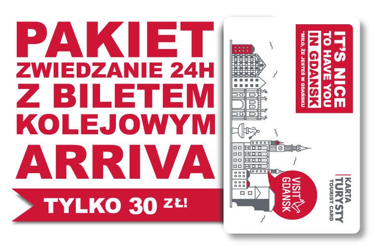 Karta Turysty tańsza z biletem Arriva