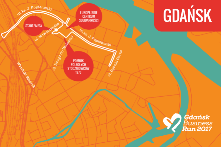 Gdańsk Business Run - trasa biegu