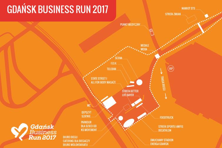 Gdańsk Business Run - mapa eventu