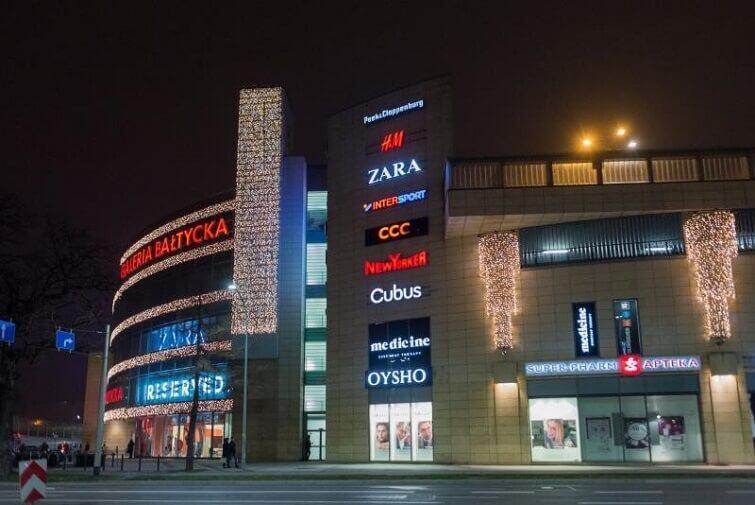 Galeria Bałtycka to największe centrum handlowe w Gdańsku
