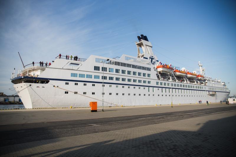 Statek Astor w gdańskim porcie