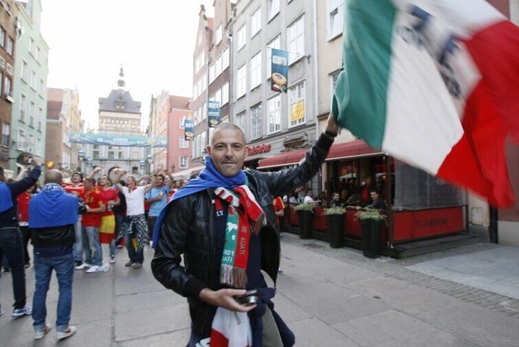 Podczas Euro 2012 do Gdańska przybyły prawdziwe tłumy kibiców z Włoch