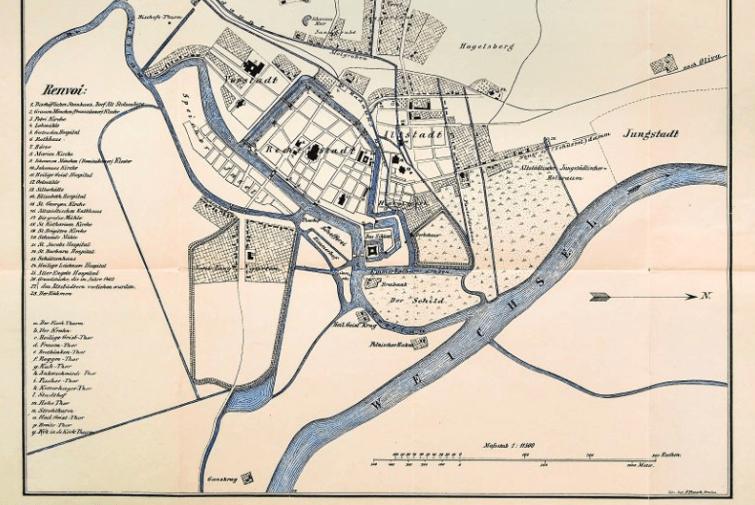 Mapa Gdańska, 1450