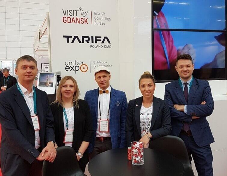 Załoga Gdansk Convention Bureau, Tarifa Poland DMC oraz Międzynarodowych Targów Gdańskich na stanowisku