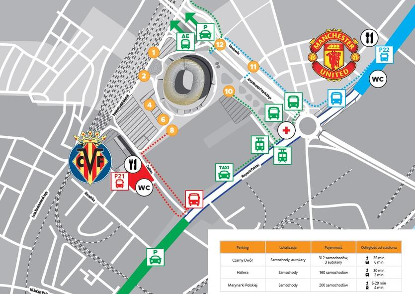 dojazd do stadionu mapa pl
