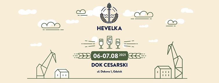Grafika przedstawia nazwę, datę i logo imprezy - hevelka na kremowym tle