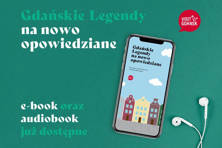 """Grafika przedstawia smartfona ze słuchawkami na zielonym tle i napis """"legendy już dostępne"""""""