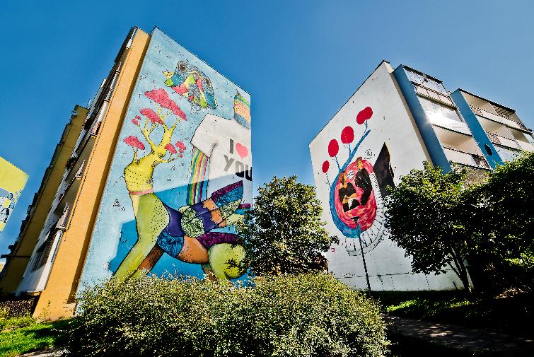 Galleri med väggmålningar i Gdansk