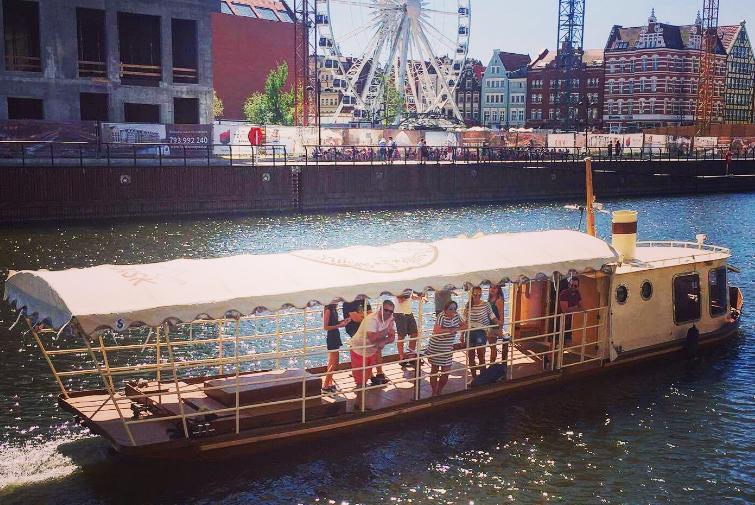 "Följ med ""Gdanski Bowke"" på en båttur"