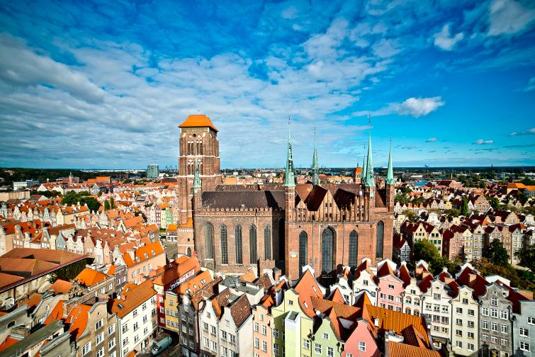 Panorama över staden