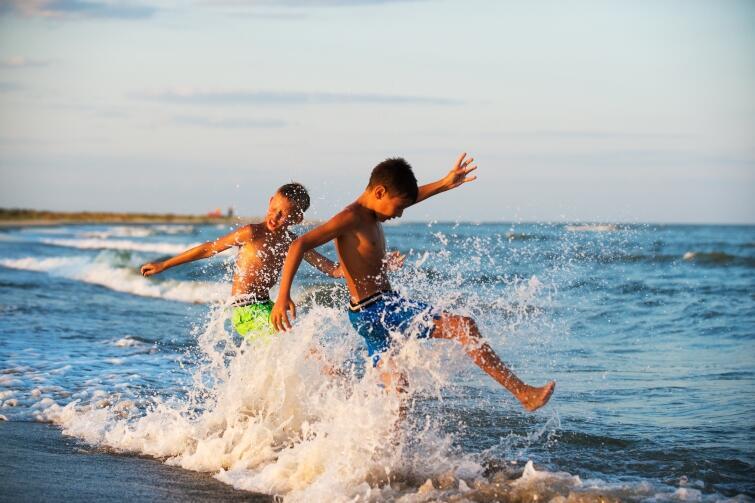 Det är alltid roligt på stranden