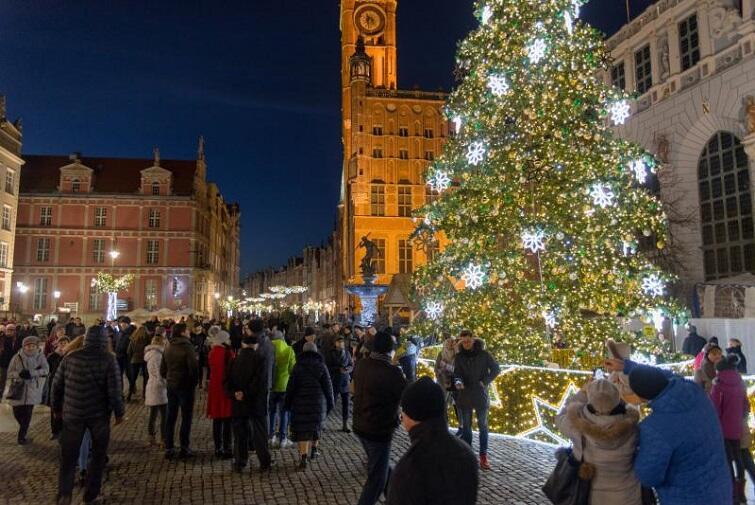 Julgranen i Gdansk
