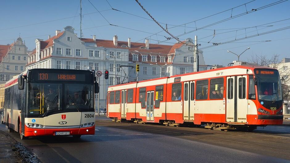 autobus tramwaj ilustracyjne
