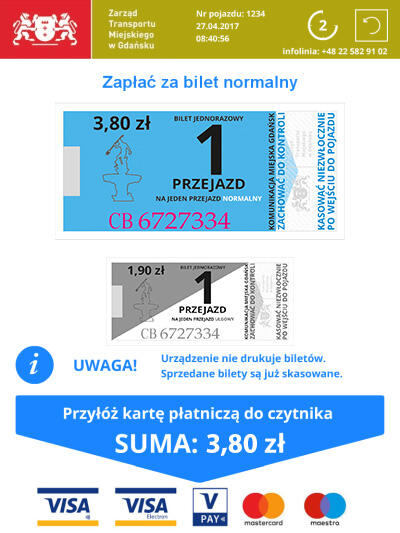 płatność za bilet