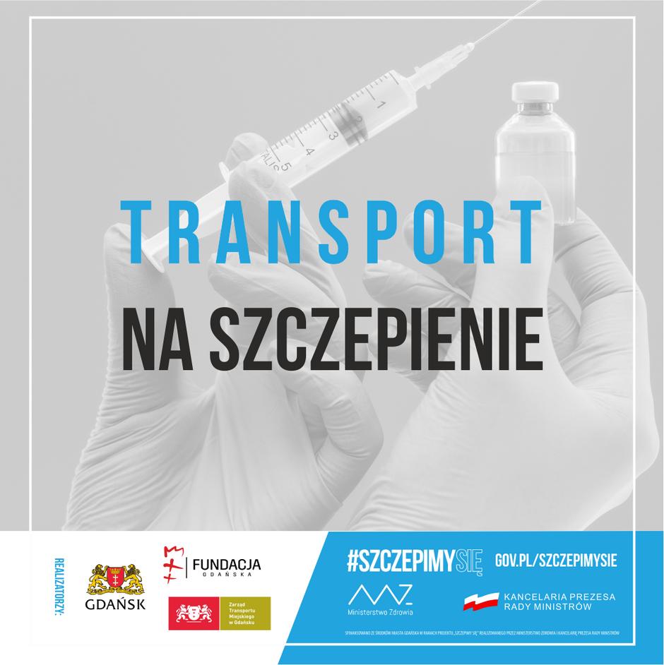 grafika akcji transport na szczepienie przedstawiająca szczypionkę